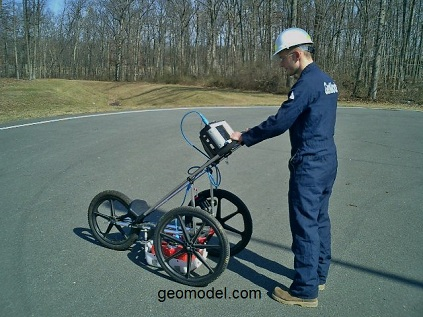 GeoModel ground penetrating radar system